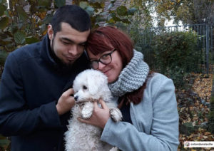 Maoi, coton de tulear from France, a small dog with a big heart