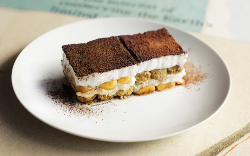 Homemade dog friendly tiramisu treat